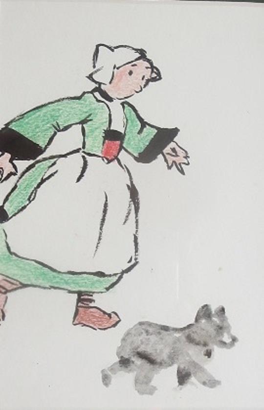 Bécassine et son chien