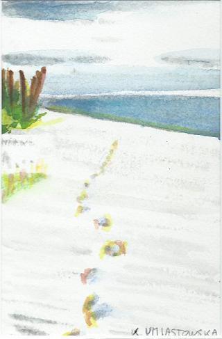 Des pas sur le sable (1)