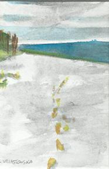 Des pas sur le sable (2)
