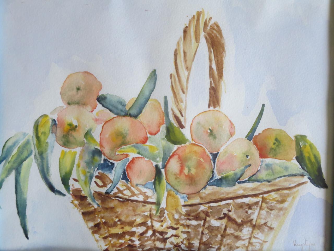 Panier de mandarines