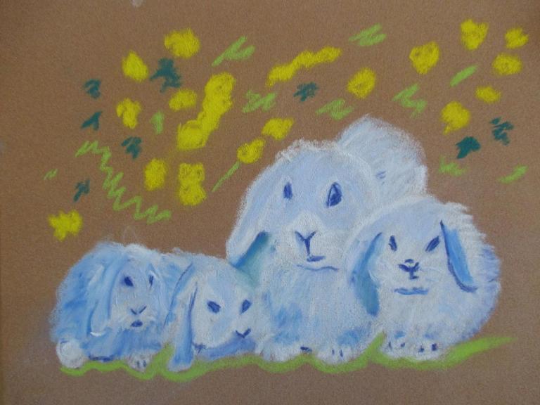 Les lapins bleus (1)