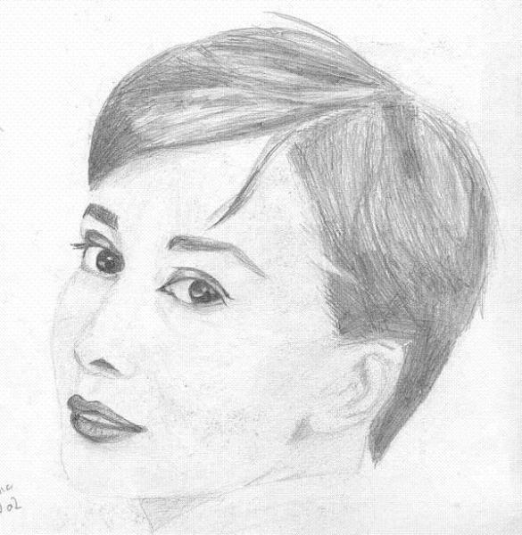 Audrey Hepburn, par Krystyna Umiastowska