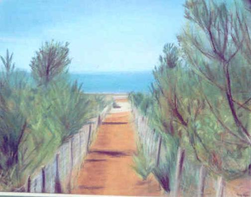 Chemin vers la plage, par Krystyna Umiastowska