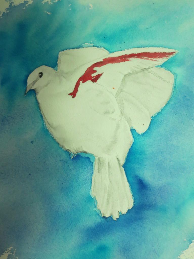 Colombe de la paix, par Krystyna Umiastowska