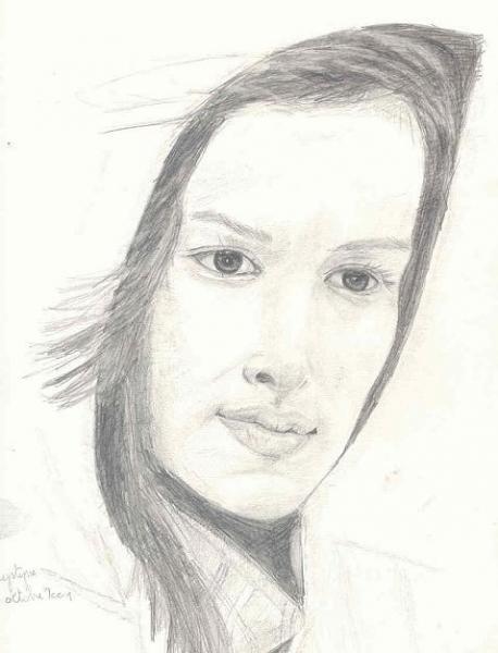 Femme à la capuche, par Krystyna Umiastowska