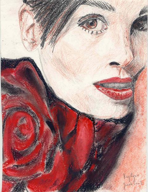 Femme à la fleur, par Krystyna Umiastowska