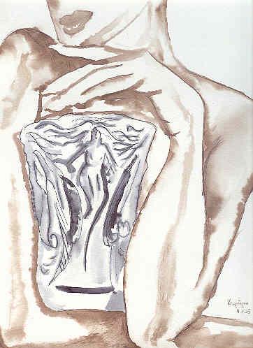 Femme au vase,  par Krystyna Umiastowska