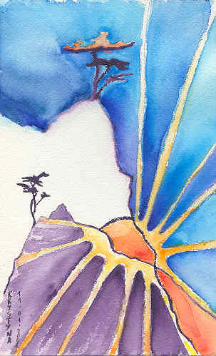 Lever de soleil, par Krystyna Umiastowska