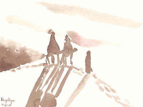 La marche des mages, par Krystyna Umiastowska