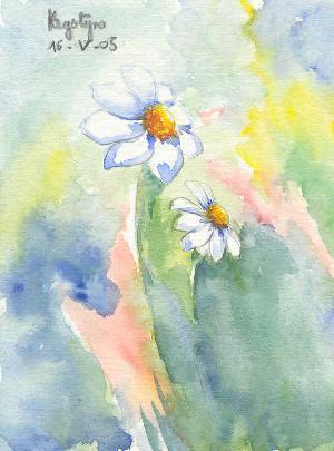 Marguerites, par Krystyna Umiastowska