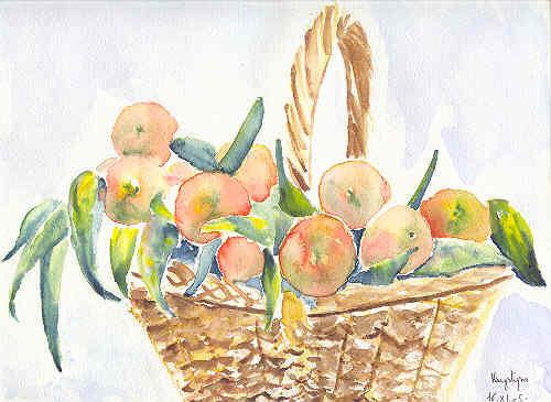 Panier de mandarines, par Krystyna Umiastowska