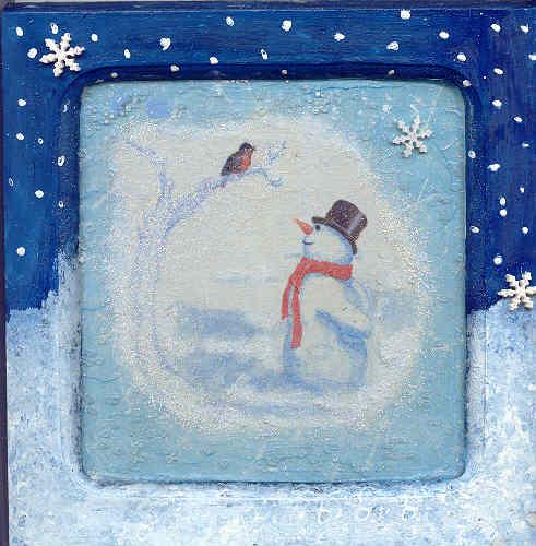 Tableautin Bonhomme de neige, par Krystyna Umiastowska